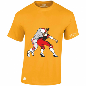 american-football-tackle-gold-t-shirt-wasson