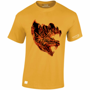 dragon-with-flames-gold-tshirt
