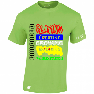 Children Childhood Lime green tshirt WASSONTSHIRTS.CO.UK