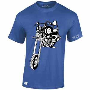 Chopper easy rider royal blue tshirt WASSONTSHIRTS.CO.UK
