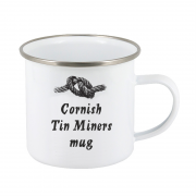 Cornish Tin Miners 10oz steel mug