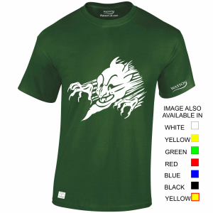 Devils Face 2 Irish Green tshirt wassontshirts.co.uk