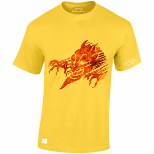 Devils Face in flames daisey tshirt wassontshirts.co.uk