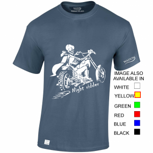 Night rider indigo blue tshirt wassontshirts.co.uk