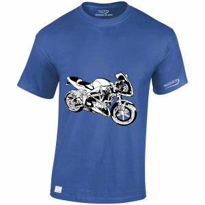 suzuki royal blue tshirt WASSONTSHIRTS.CO.UK