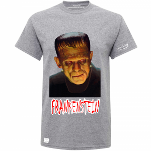 Frankenstein graphite heather tshirt wassontshirts.co.uk