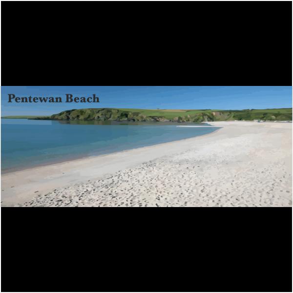 Pentewan Beach Cornish Riviera