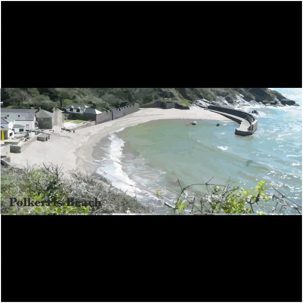 Polkerris Beach Cornish Riviera