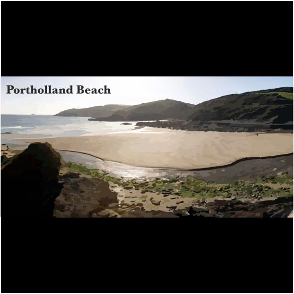Portholland Beach Cornish Riviera