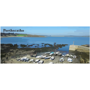 Porthscatho beach Lizard & Falmouth Cornwall