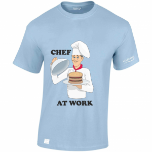 Chef at work LIGHT BLUE TSHIRT WASSONTSHIRTS