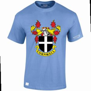 Cornwall coat lt blue tshirt wassontshirts.co.uk