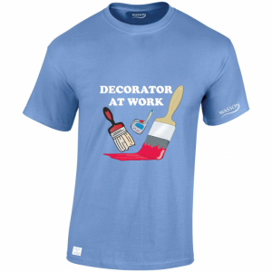 Decorator at work carolina blue tshirt wassontshirts