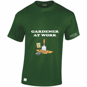Gardener at work Forest Green Tshirt wassontshirts