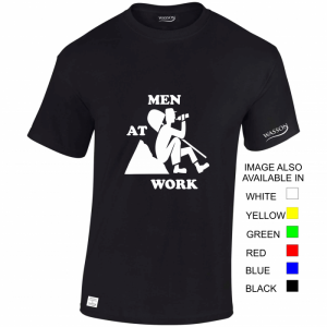 Men at work black t-shirt wassontshirts