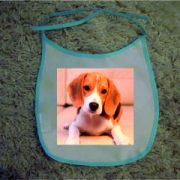 Baby Bibs Blue personalised bespoke Dog friendly pet image