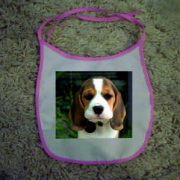 Baby Bibs Pink personalised bespoke Dog friendly pet image