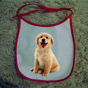 Baby Bibs red personalised bespoke Dog friendly pet image