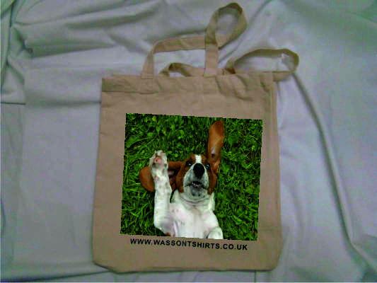 Basset Cotton Canvas Bag 19Lt Personalised bespoke add your own