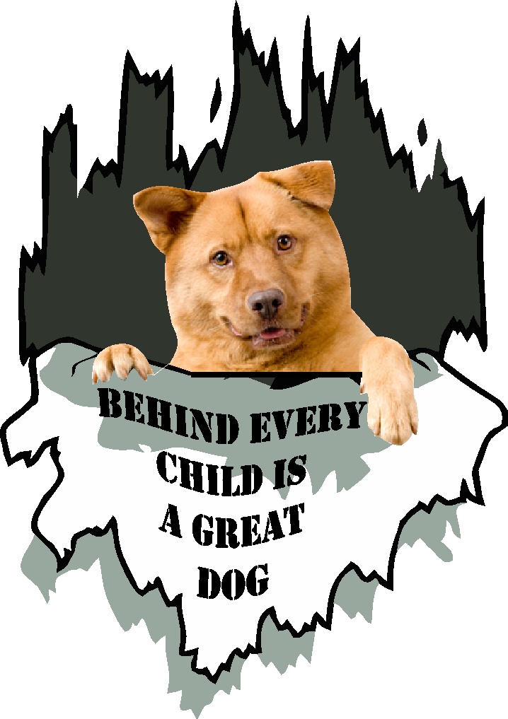 Behind every child is a great dog T shirt, add your own dog image