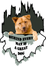 Behind every man is a great dog T shirt, add your own dog image wassontshirts.co.uk